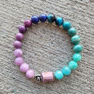 Ombre Gemstone Bracelet Handmade